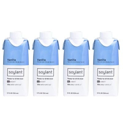 4-Pack 11oz. Soylent Nutritional Shake (Vanilla or Strawberry)