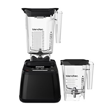 Blendtec D625A2801A1A-AMAZON Designer 625 Blender - WildSide+ Jar (90 oz) and Mini WildSide+ Jar (46 oz) BUNDLE - Professional-Grade Power - 4 Pre-Programmed Cycles - 6-Speeds - Black