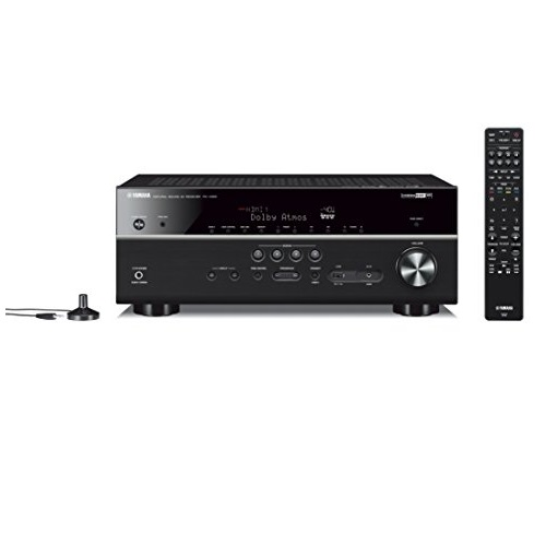 Yamaha RX-V685BL 7.2-Channel 4K Ultra HD AV Receiver with Wi-Fi Bluetooth and MusicCast. Works with Alexa