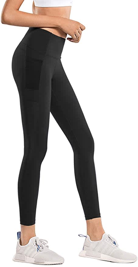 Lynfun Women's High-Waisted Yoga Pants with Pockets