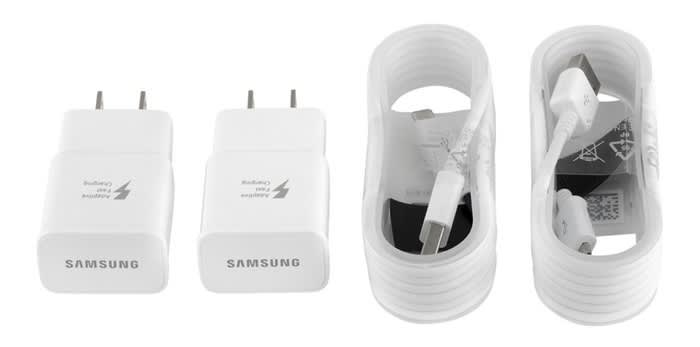 Samsung Original Fast Adaptive Charger 2-Pack w/ 2 Cables