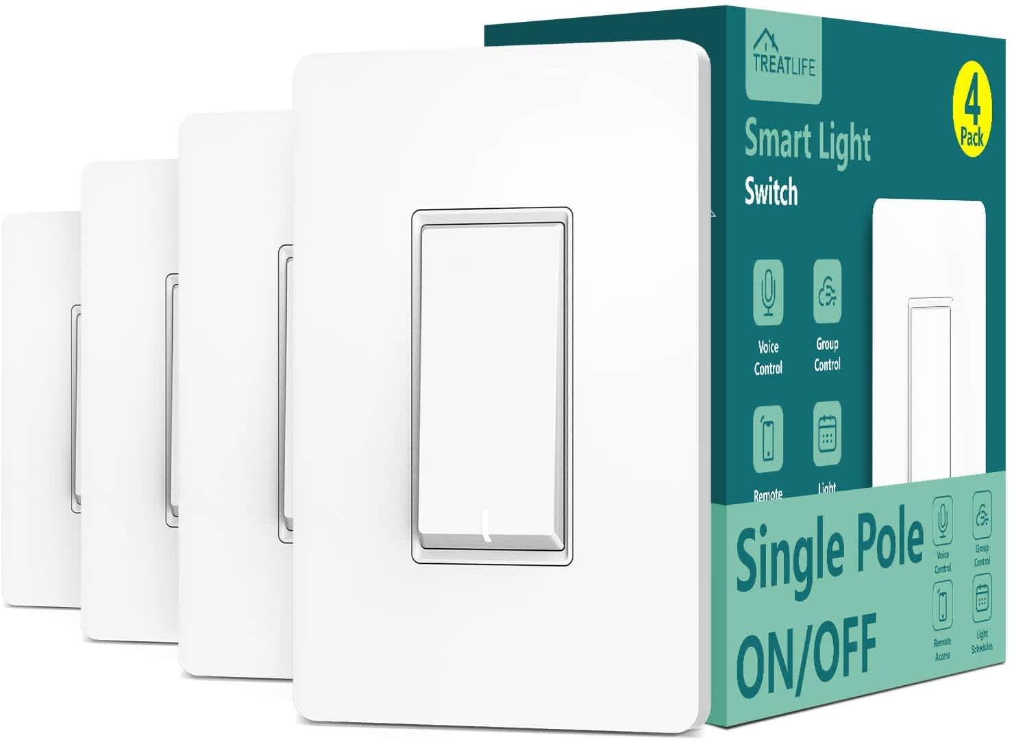 Treatlife Smart Light Switch 4-Pack