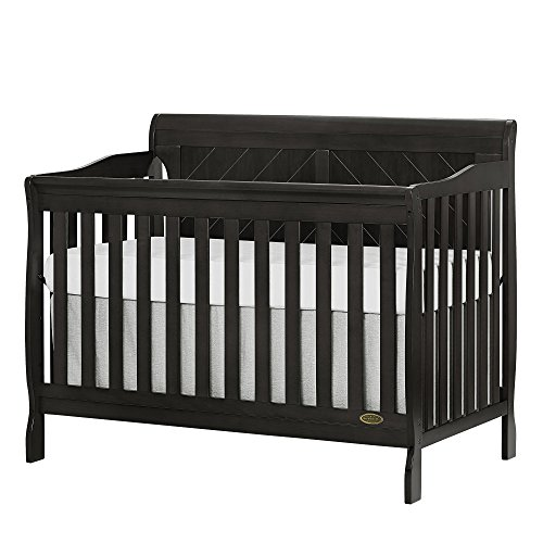 Dream On Me, Ashton Full Panel 5-in-1 Convertible Crib, Charcoal