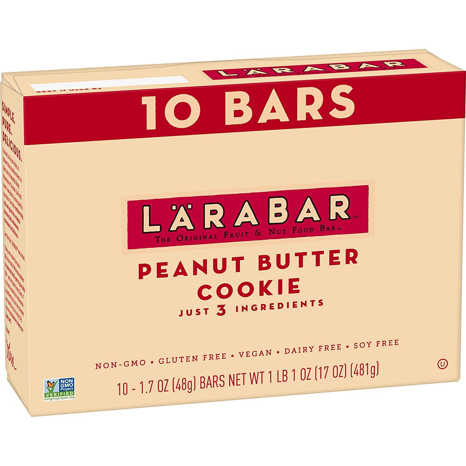 10-Count 1.7oz. Larabar Gluten Free Bar (Peanut Butter Cookie)