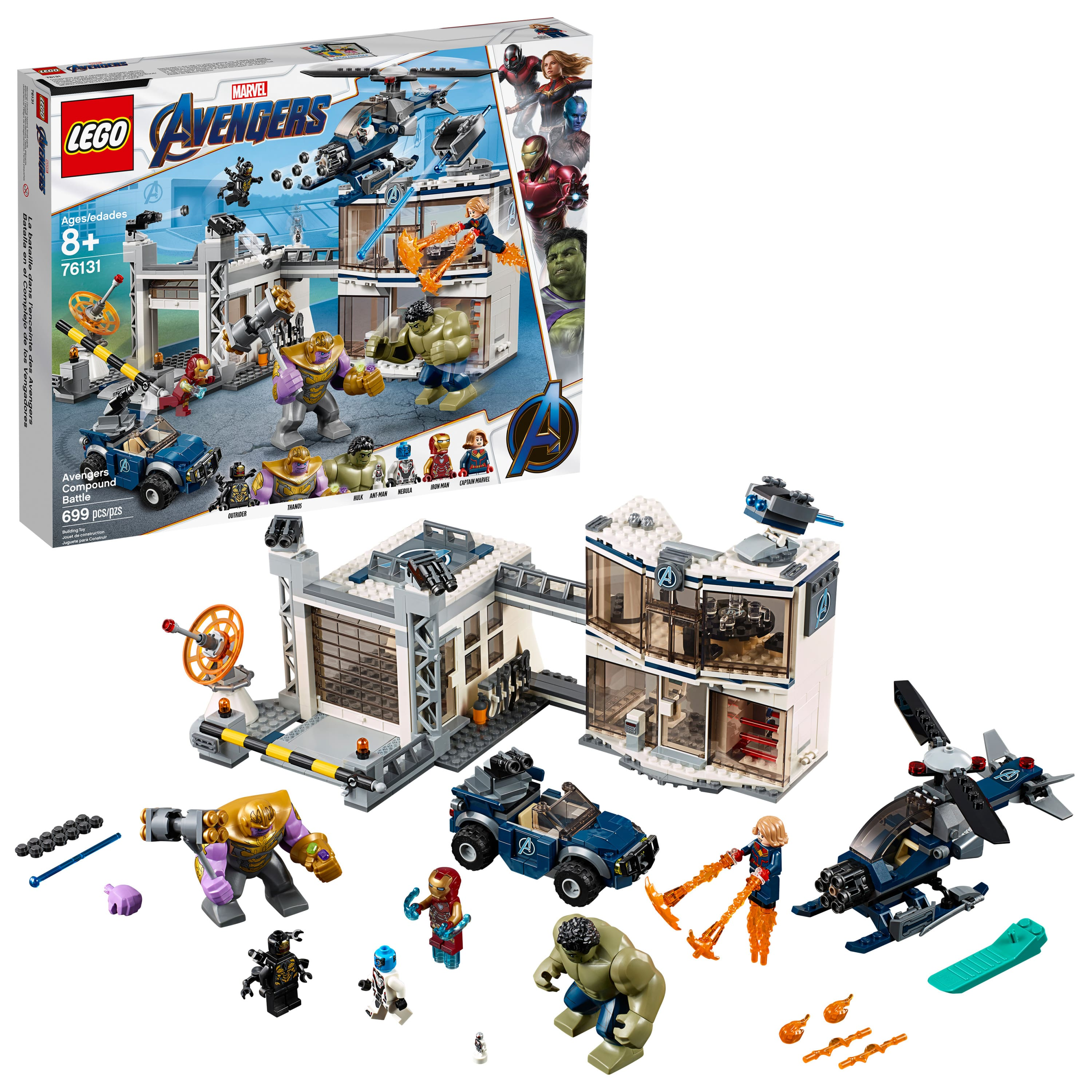 699-Piece LEGO Marvel Avengers Compound Battle Building Set