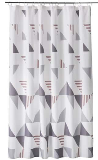 "MoDRN Shower Curtains: 72"" x 72"" or 72"" x 84"" Scandinavian Triangle Print"