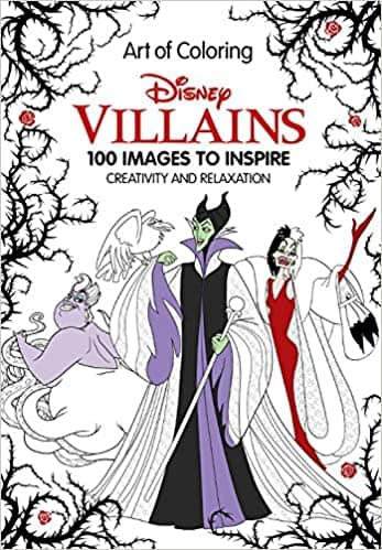 """Art of Coloring: Disney Villains"" Hardcover Book"
