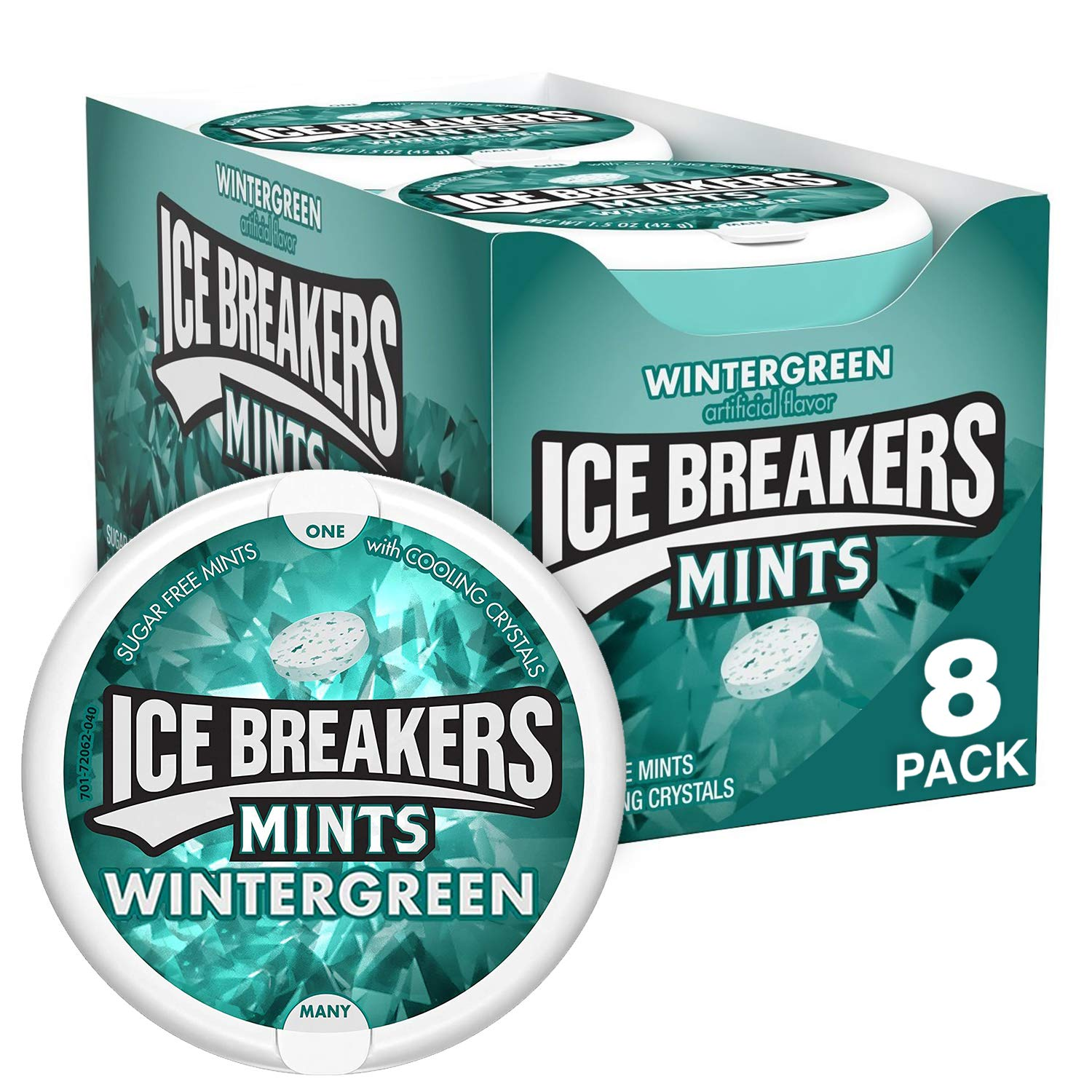 8-Count 1.5oz. Ice Breakers Sugar Free Mints (Wintergreen)