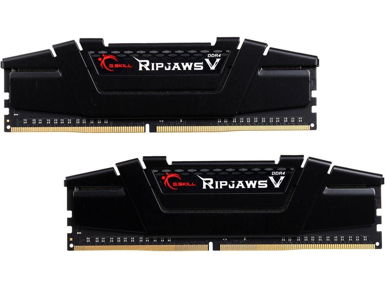 G.Skill Ripjaws V Series DDR4 3200 Desktop RAM: 32GB (2x16GB) $198, 16GB (2x8GB)