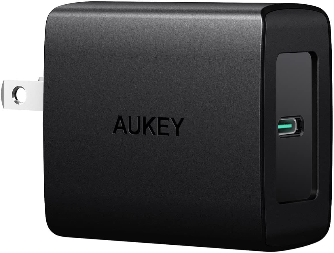 27w Aukey USB-C Wall Charger w/ Power Delivery 3.0