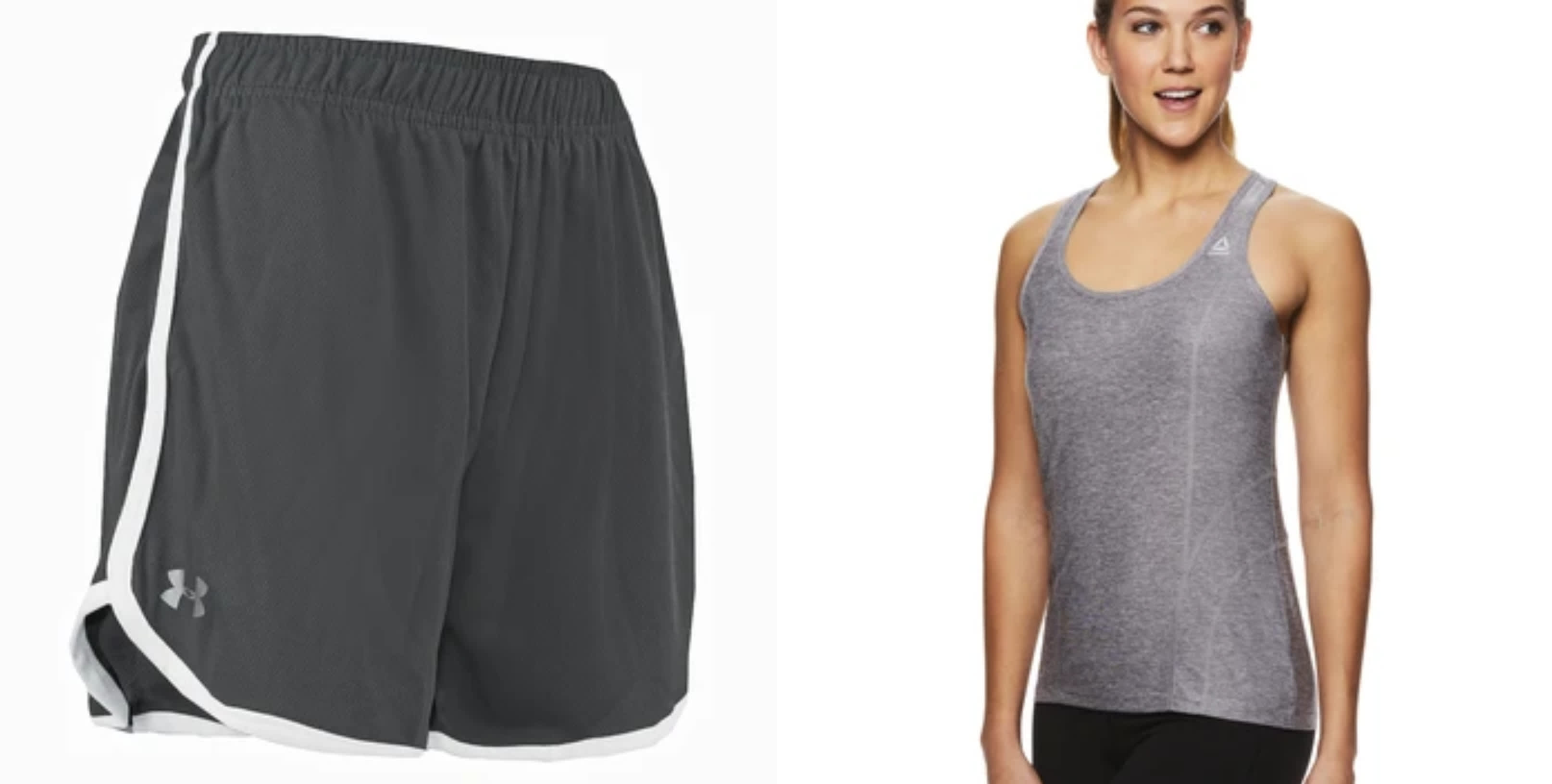 Under Armour Women's Shorts + Reebok Tank Top