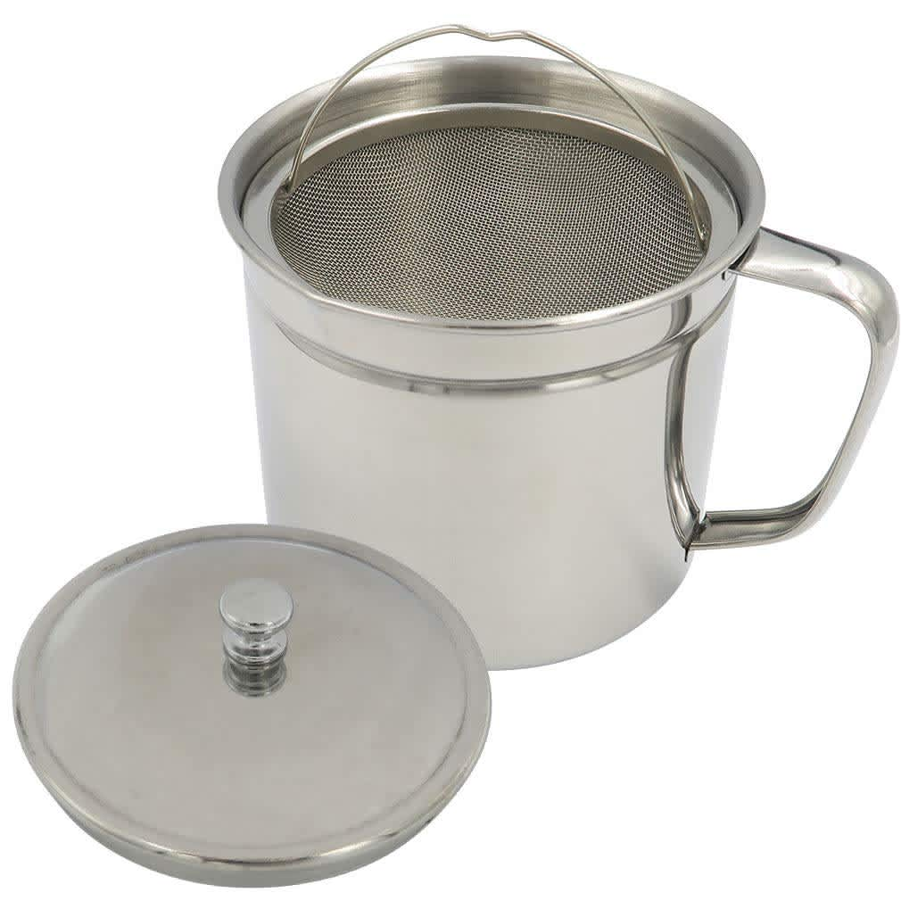Evelots Stainless Steel Bacon Grease Keeper