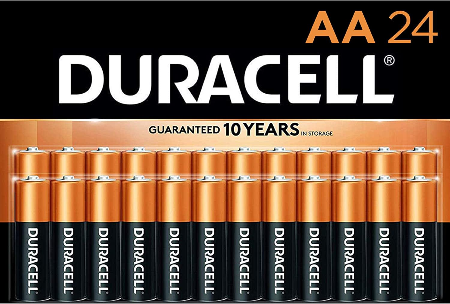 Duracell CopperTop AA Alkaline Batteries 24-Pack