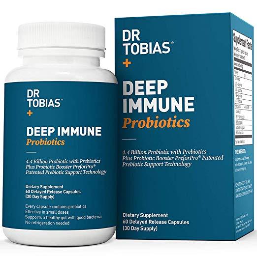 助消化!增强免疫力!Dr. Tobias Probiotic  益生菌助消化胶囊,60粒