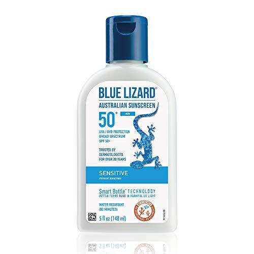 史低价! Blue Lizard蓝蜥蜴  敏感肌肤物理防晒乳SPF 50+, 5 oz,原