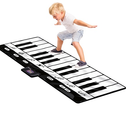 Click N' Play Gigantic Keyboard Play Mat, 24 Keys Piano Mat, 8 Selectable Musical Instruments + Play -Record -Playback -Demo-mode
