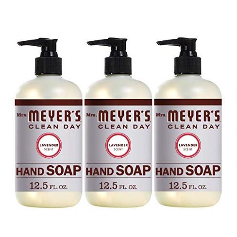 Mrs. Meyer's 天然洗手液, 薰衣草香味,12.5 oz/瓶,共3瓶