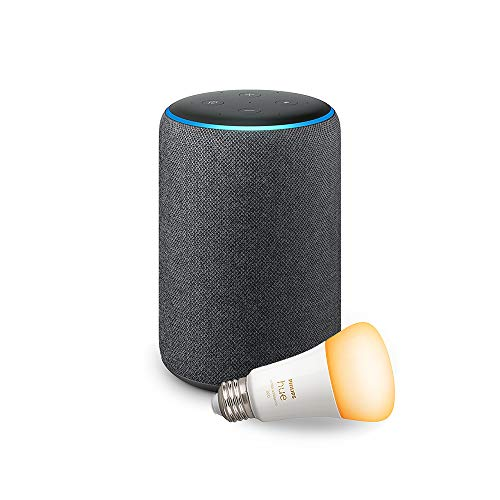 Echo Plus (2nd Gen) with Philips Hue Bulb - Alexa smart home starter kit
