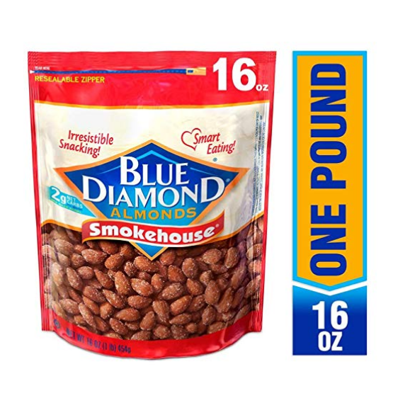 Blue Diamond Gluten Free Almonds, Smokehouse, 16 Ounce