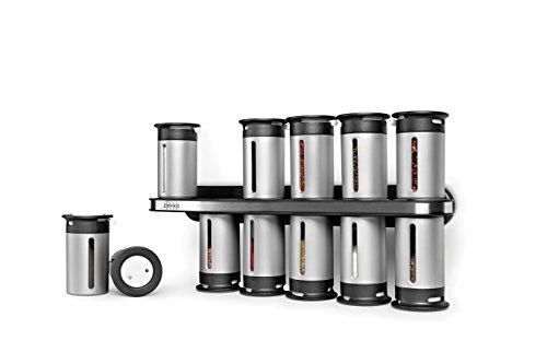 壁挂式12罐装磁性调料罐套装