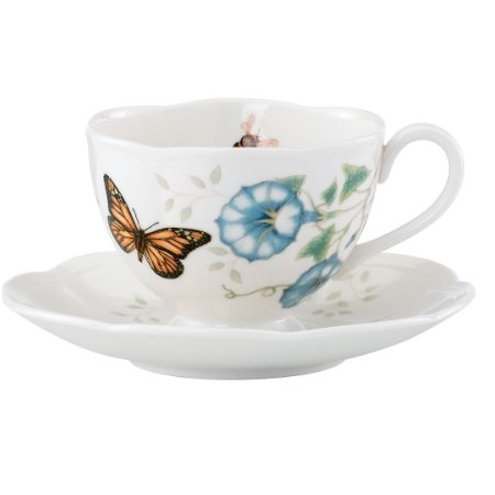 Lenox Monarch Butterfly Meadow Cup And Saucer, 1.3 LB