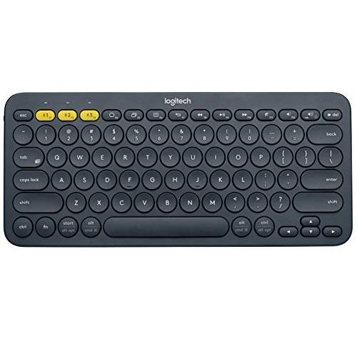 Logitech K380 Multi-Device Bluetooth Keyboard, Dark Grey