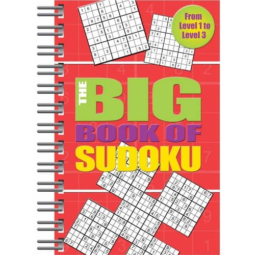 The Big Book of Sudoku: Spiral-Bound w/ Over 500 Puzzles (Easy to Hard)