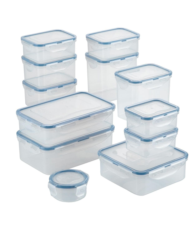 24-Piece Lock n Lock Easy Essentials Basics Food Storage Container Set