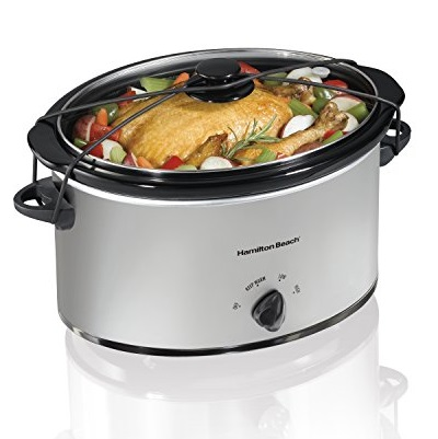 Hamilton Beach  33176 Portable 7-Quart Slow Cooker, Chrome