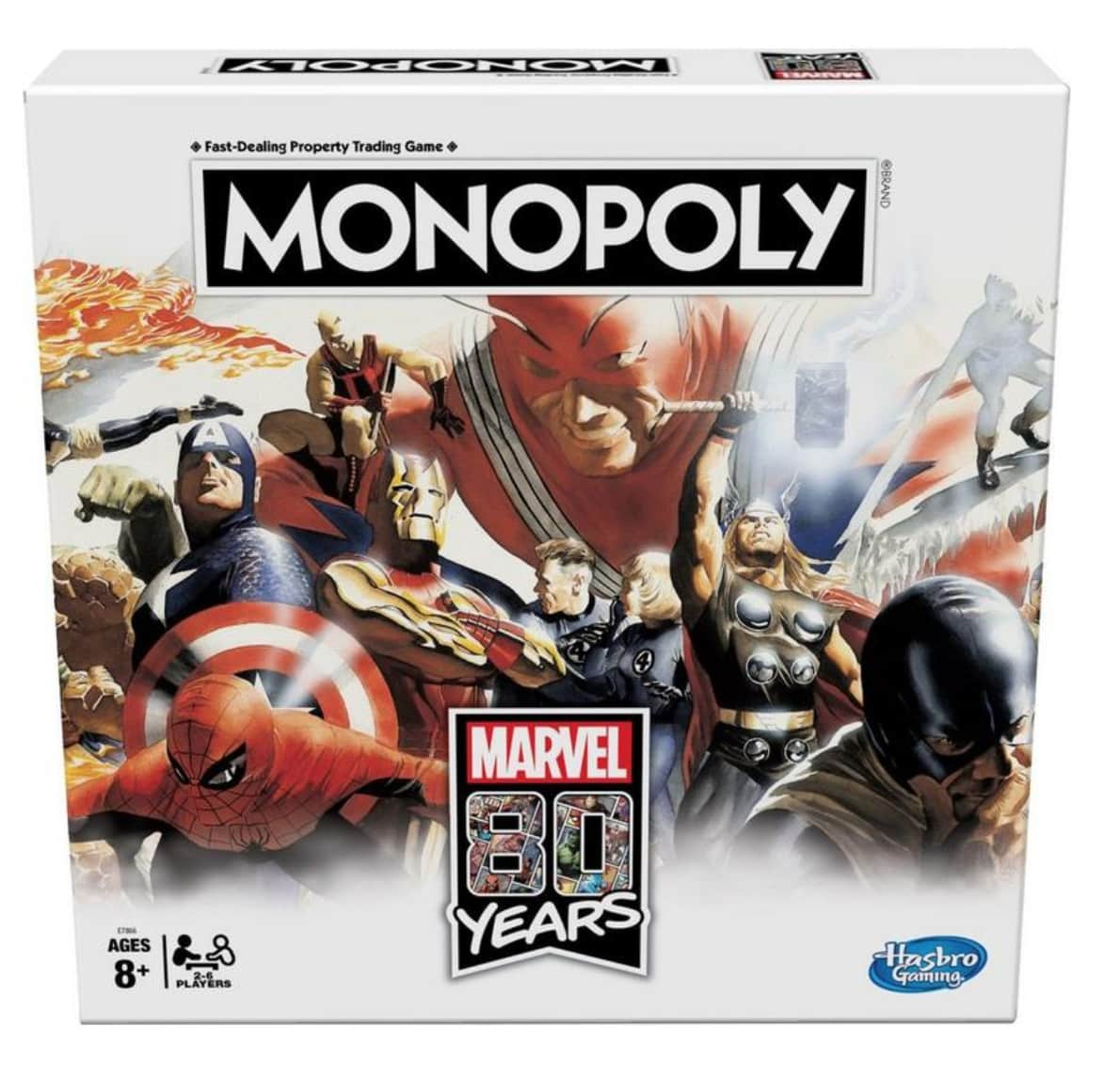 Hasbro Monopoly Marvel 80 Years Edition Board Game