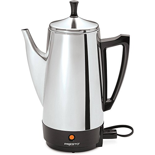 Presto 12-Cup Stainless Steel Coffeemaker, Chrome