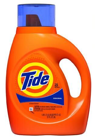 37-Oz Tide Liquid Laundry Detergent (Various)