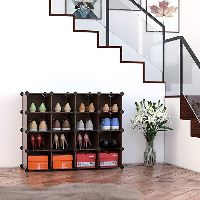 今日特价!顶级销量鞋架,15个方形空间单元