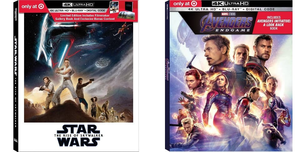 B1G1 50% Off Select 4K Blu-rays: Star Wars: Rise of Skywalker + Avengers Endgame