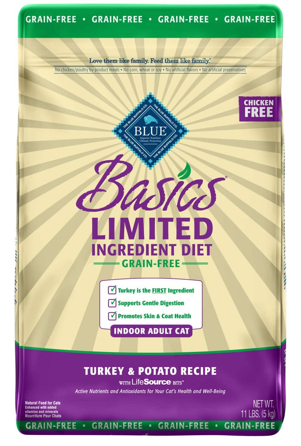 11-Lbs Blue Buffalo Basics Limited Ingredient Diet Dry Cat Food