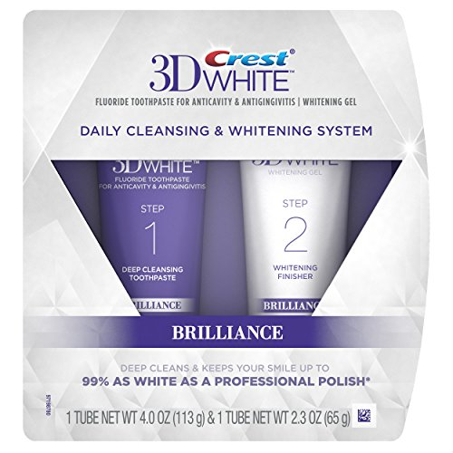 Crest 3D White 深层洁牙美白牙膏套组,4.0 oz + 2.3 oz