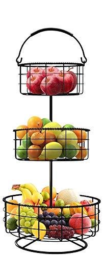 顶级销量!3层台式水果篮,存储性和装饰性并存!