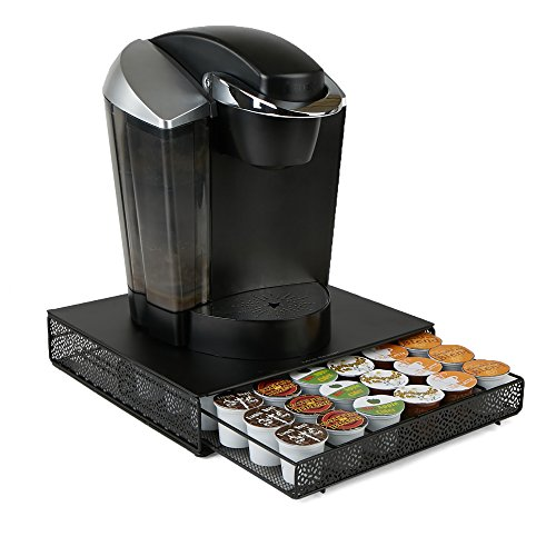 Mind Reader MTRAY-BLK Storage Drawer Coffee Pod Holder, 36 Capacity, Black