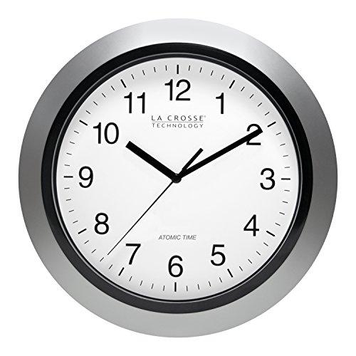 La Crosse 10寸圆形经典墙面挂钟,可自动对时