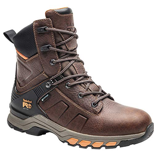 "Timberland PRO Men's Hypercharge 8"" Soft Toe Waterproof Industrial Boot"