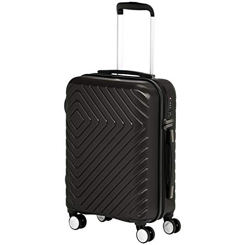 AmazonBasics Geometric 21.5-inch International Carry-On Luggage with Wheels, Black