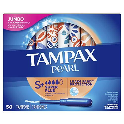 史低价!Tampax 丹碧丝 珍珠系列 塑胶导管棉条 超大吸收量版,50支