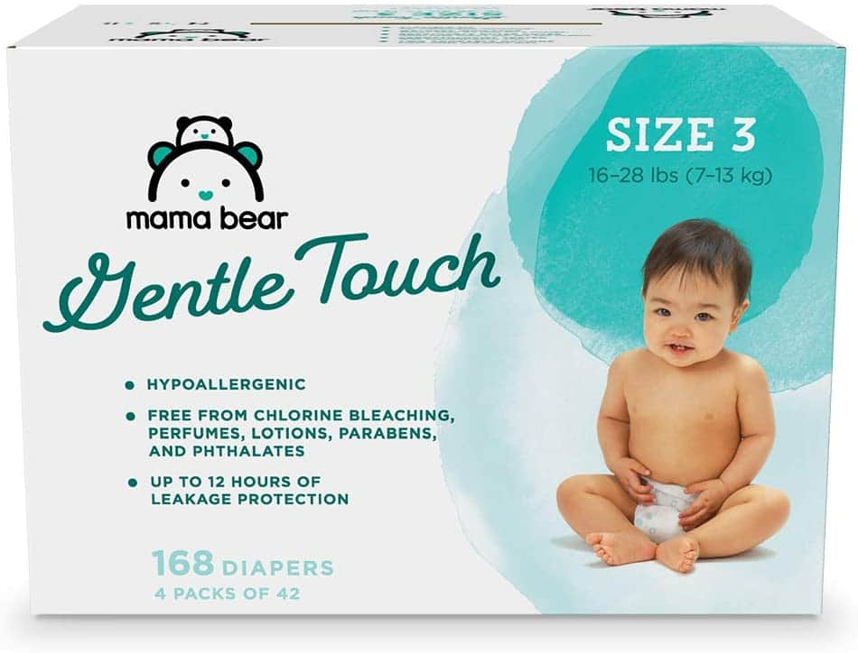 Mama Bear Gentle Touch Diapers: 184-Ct Size 2 $13.65, 168-Ct Size 3