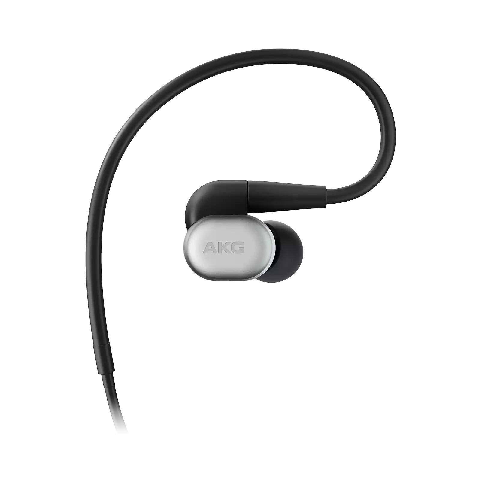 AKG N30 Hi Res In Ear Headphones w/ Detachable Cable and Mic (Silver)
