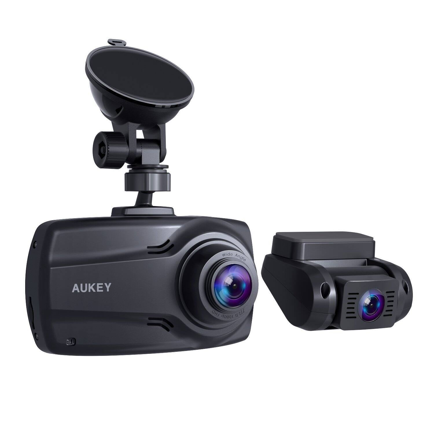 "Aukey DR03 Front and Rear 1080P Dash Cams w/ Supercapacitor & 2.7"" Screen"