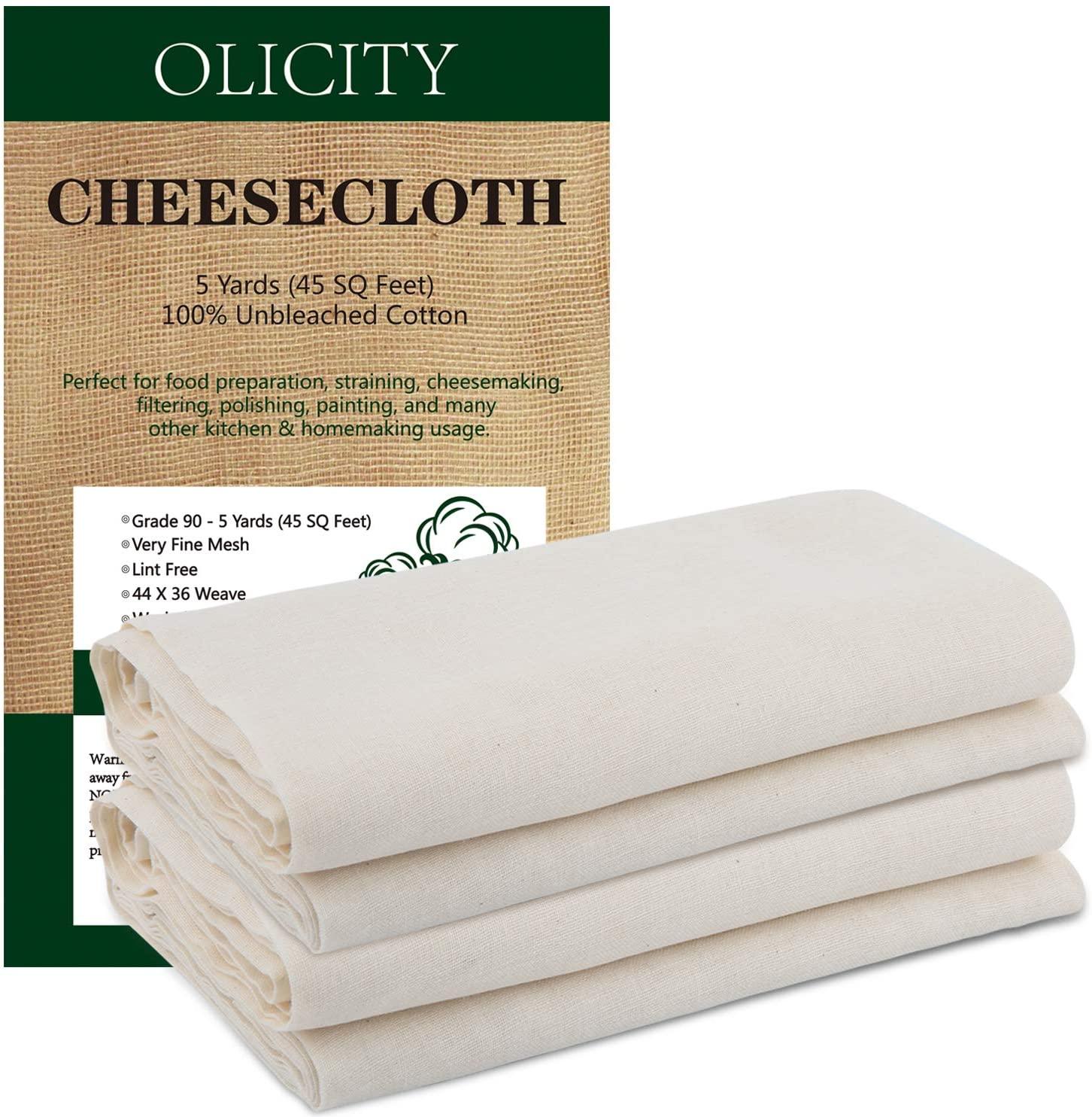 未漂白100%棉布,用于烹饪的超细粗棉布
