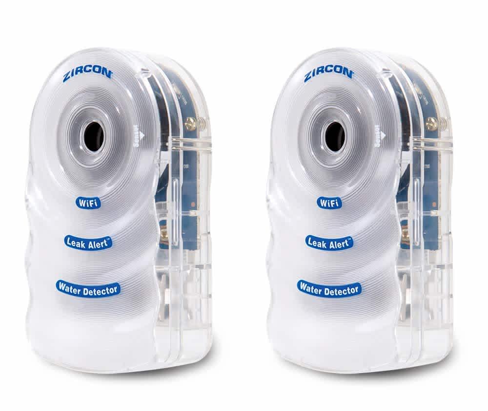 Zircon Leak Alert WiFi Water Detectors 2-Pack