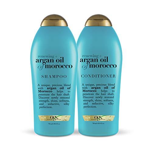 补货!史低价!OGX Renewing Argan Oil of Morocco Shampoo 摩洛哥坚果油洗发水 + 护发素 套装,25.4 oz/瓶