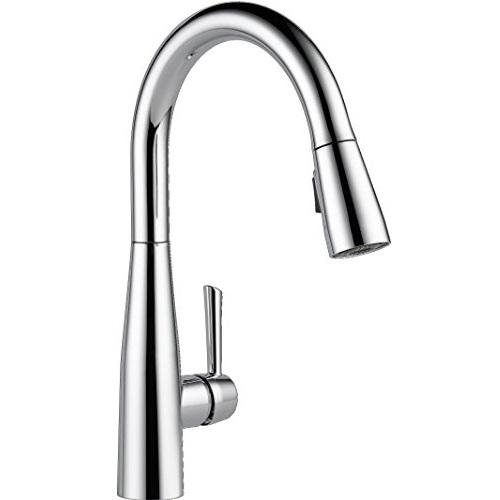 Delta Essa Single-Handle Kitchen Sink Faucet with Pull Down Sprayer (Chrome)