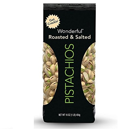 Wonderful Pistachios, Roasted and Salted, 16-oz Bag